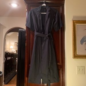 Short sleeve dress trench coat by 424 fifth